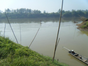 The Nam Ton / Mekong confluence area that is highly targeted by migratory fish stocks on their upstream and downstream fish migrations